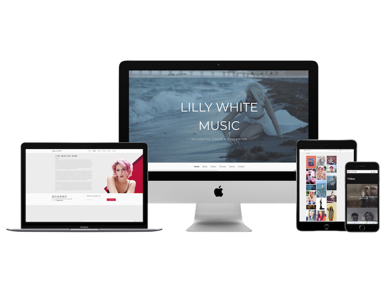 music artist web design