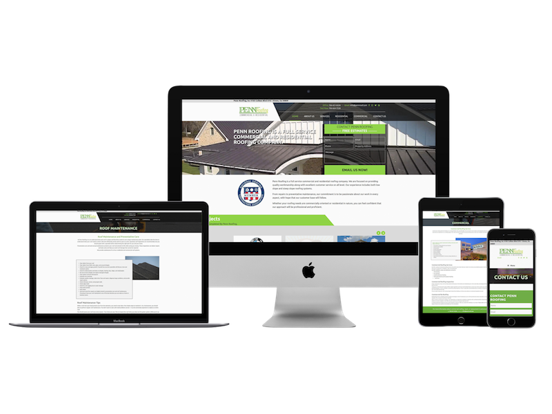 web design for roofing company